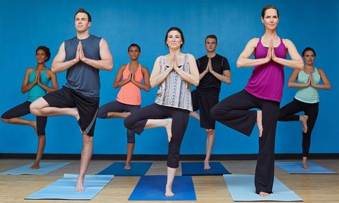 Group class Yoga